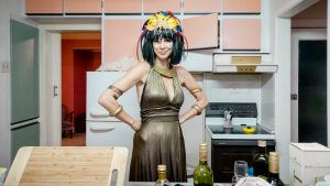 Libby / Cleopatra - Famous person dress-up birthday party, St Heliers, Auckland, NZ, 2014, photogaphy