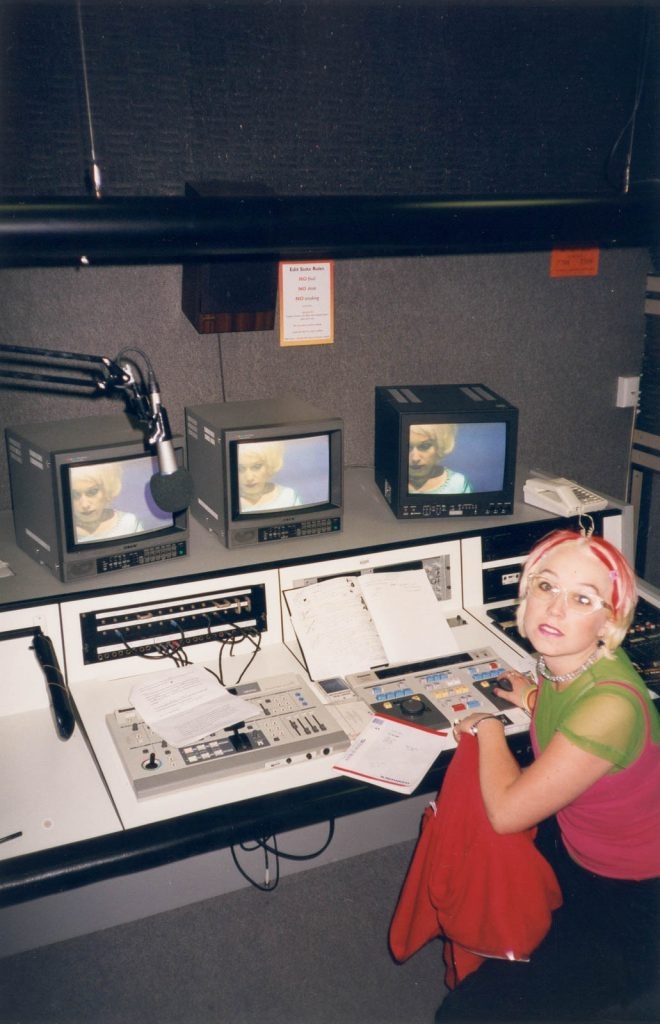 Daily Photo, late 90s, Kezia Editing Kezias, video editing, analogue, art school, woman, photography, portrait