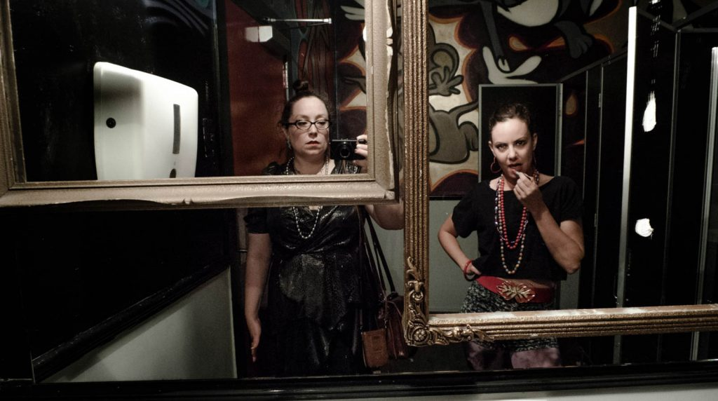 Daily Photo, 12 October 2013, Serious Lipstick with Emma, mirror, portrait, photography