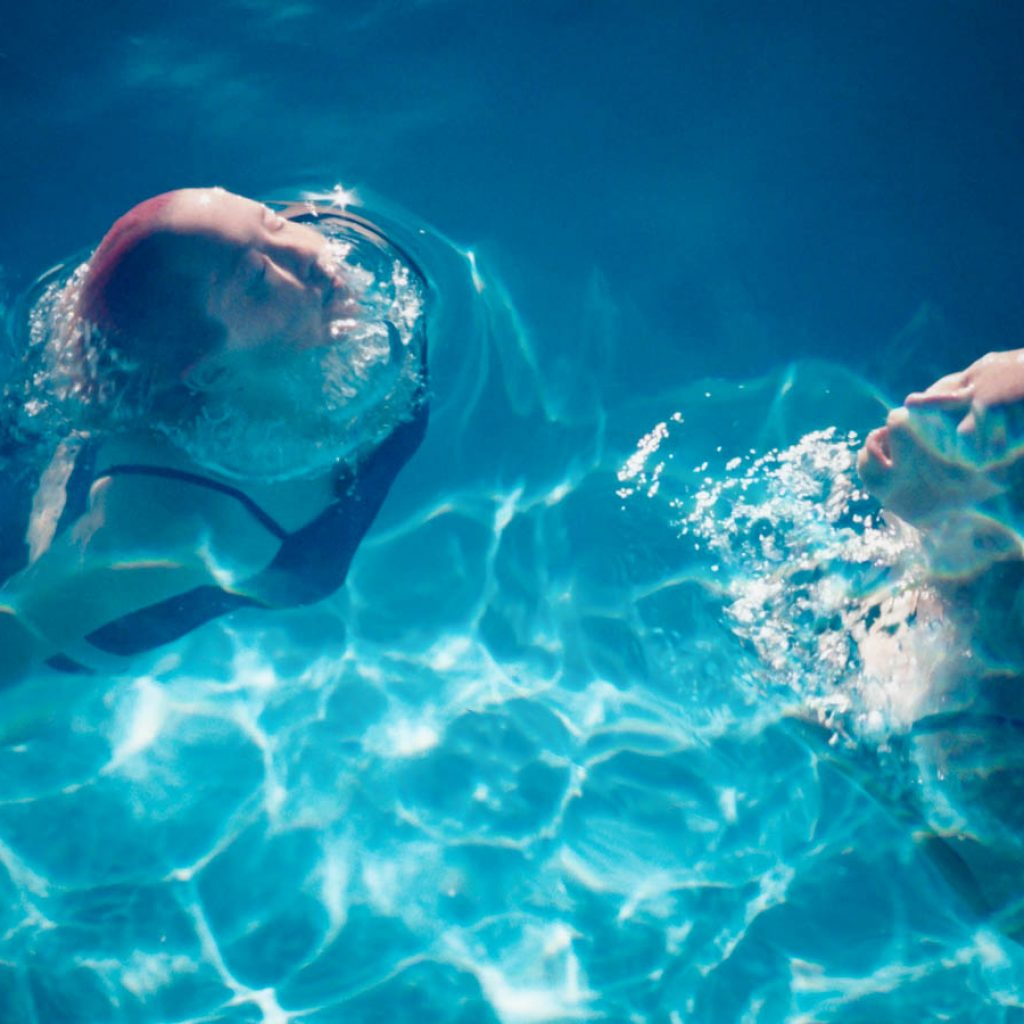 Daily Photo, Synchronised Swimming, superimposed, pool, woman, portrait, photography