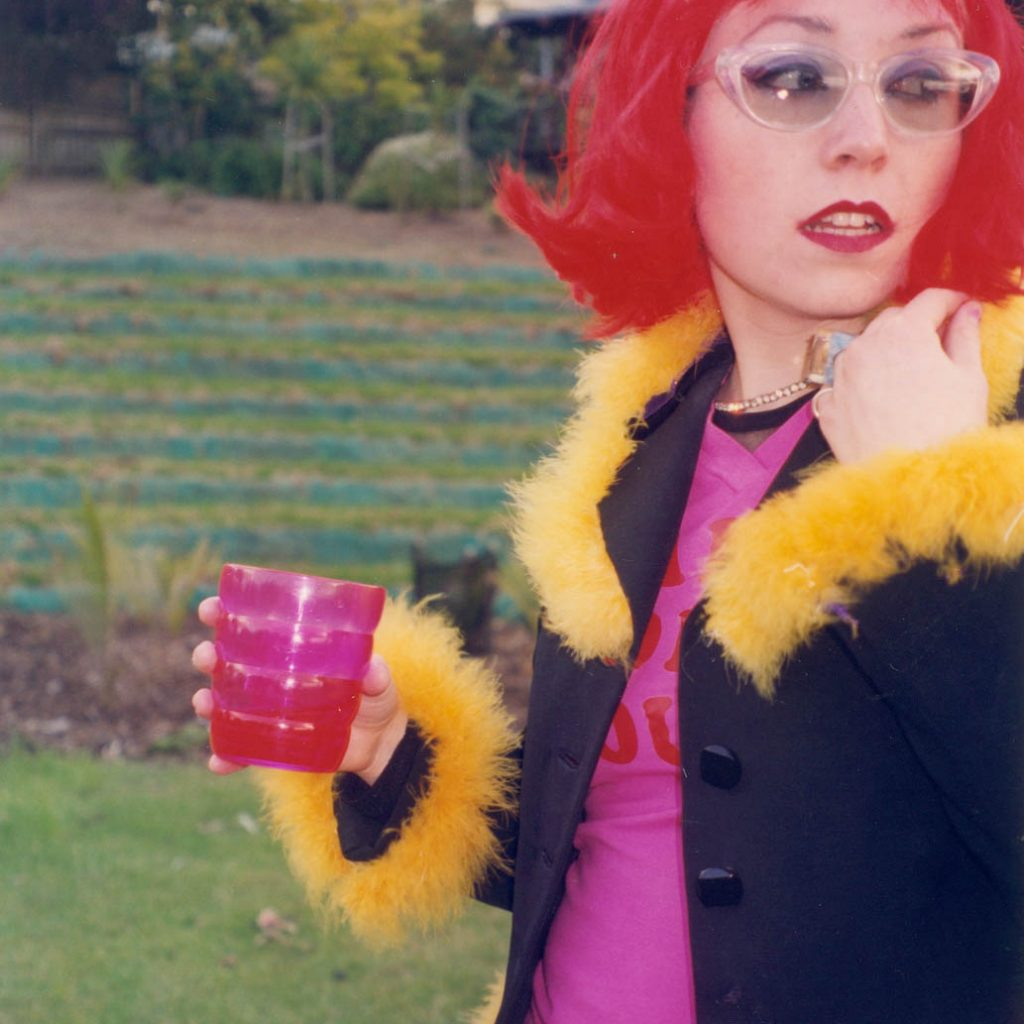 Daily Photo, late 90s, Red Wig, Tole Reserve, portrait, red wig, woman, photography